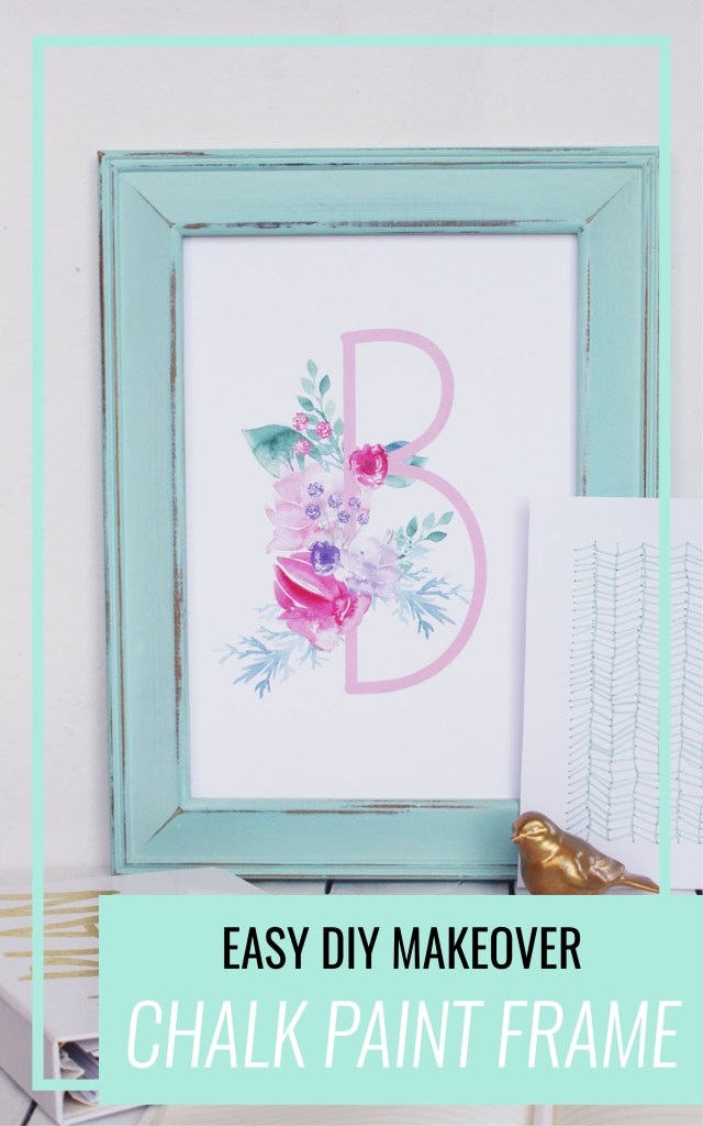 Come and check out this DIY photo frame makeover with chalk paint. A quick and easy craft that everyone will love.