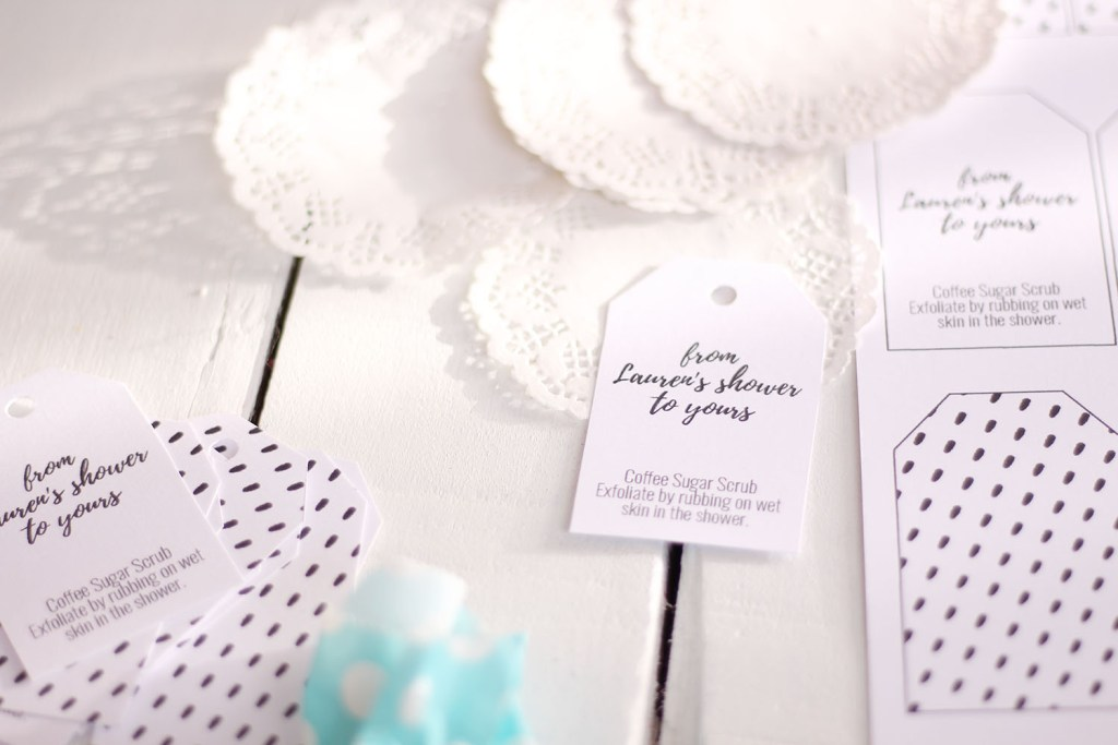 Easy peasy bridal shower favours with a DIY sugar scrub - from her shower to yours