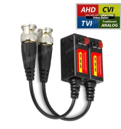 ev bl945 1 pair 2 pcs hd 5mp passive transceiver toolless cctv video balun compact size cat5 cat6 evertech usa [ 1600 x 1600 Pixel ]