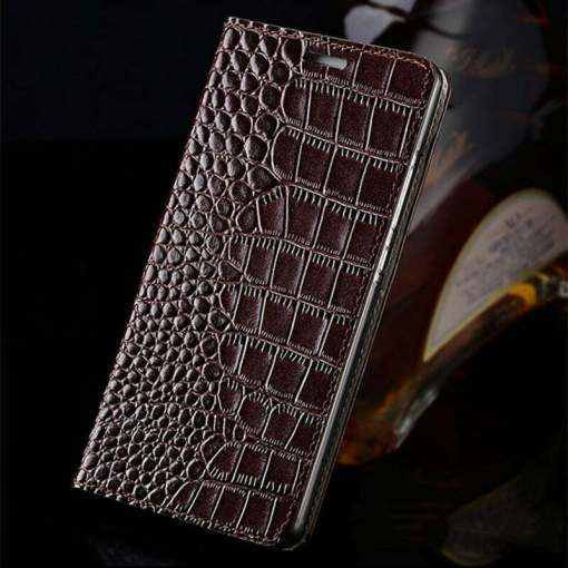 Genuine Grain Leather Wallet Case For Samsung Galaxy S21 Note 20