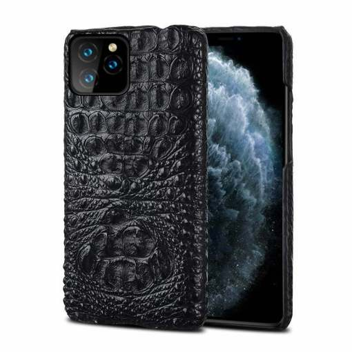 Real Croc Leather iPhone Case Skull Hornback Skin
