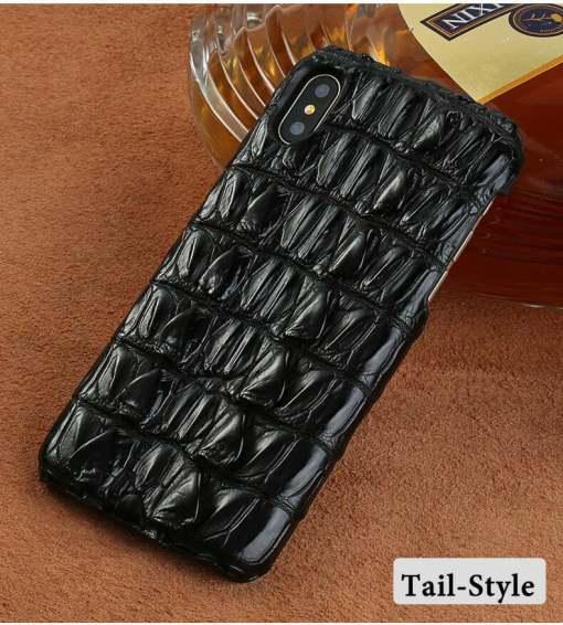 Genuine Alligator Croc Embossed Leather iPhone XS Max