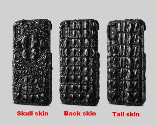 Real Alligator Crocodile Skin iPhone XS Max – Backbone Hornback Leather