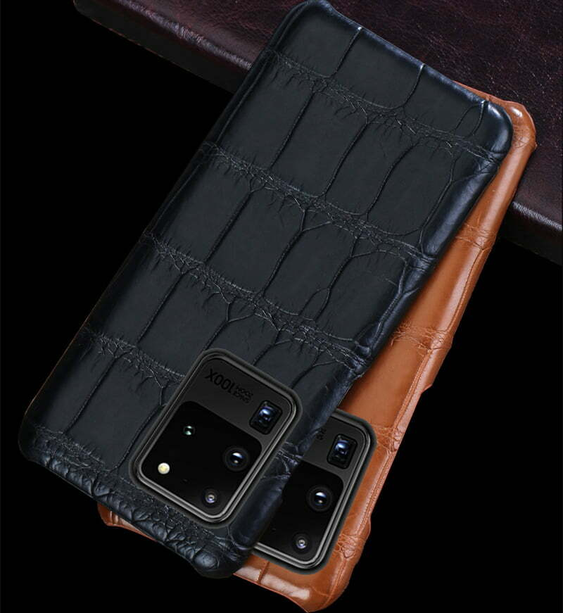 Genuine Real Crocodile Belly Skin Case For Samsung Galaxy S21 Note 20