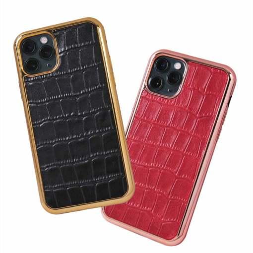 Crocodile Embossed Leather iPhone 12 Pro Max Case