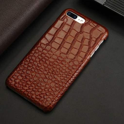Croc Embossed Leather Alligator iPhone 6 Plus Case