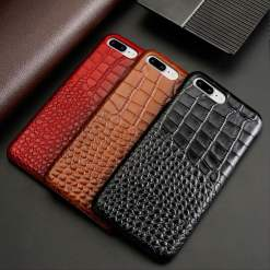 Croc Embossed Leather Alligator iPhone 6 Plus Case