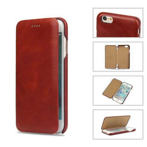 Genuine Leather Flip Case for iPhone 6
