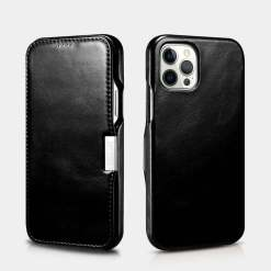 ICARER Vintage Leather Magnetic Folio Case for iPhone 12 Pro Max