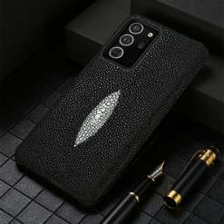 Real Stingray Skin Leather Samsung Case