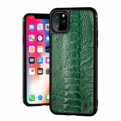 Real Ostrich Feet Leather iPhone 12 11 Pro Max Case