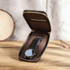 Leather Travel Watch Display Case