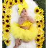 Newborn Baby Infant Girl Outfits Clothes Off Shoulder Skirt Tutu Headband Tulle