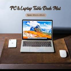 "Genuine Leather Desk Pad Office Mat 15.7"" x 23.6"""