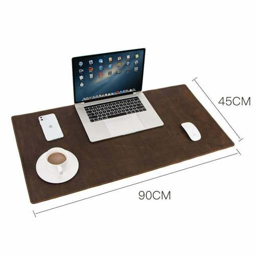"""Genuine Leather Extended Desk Pad Mouse Mat 35"""""""