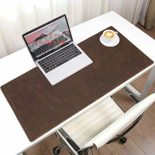 """Natural Cowhide Leather Desk Pad Office Mat 31"""""""