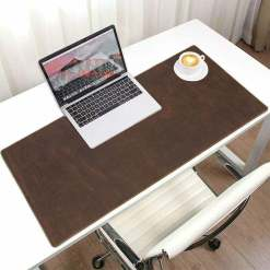 Natural Cowhide Leather Desk Pad Office Mat 31