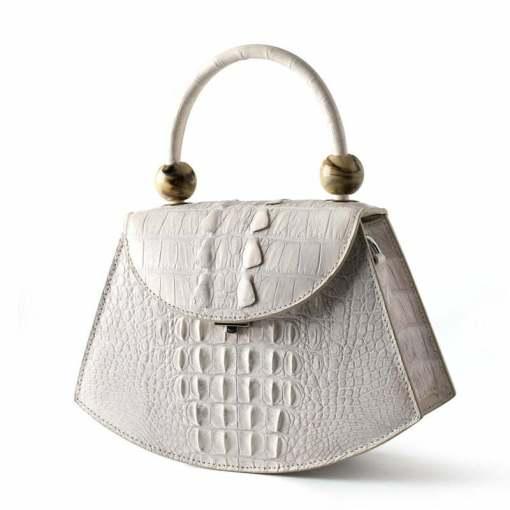 Ladies Evening Crocodile Handbag Clutch Tote