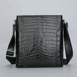 Genuine Crocodile Leather Men's Shoulder Bag