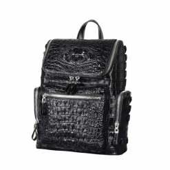 Crocodile Large Capacity Travel Computer Backpack Leather Men's Bag