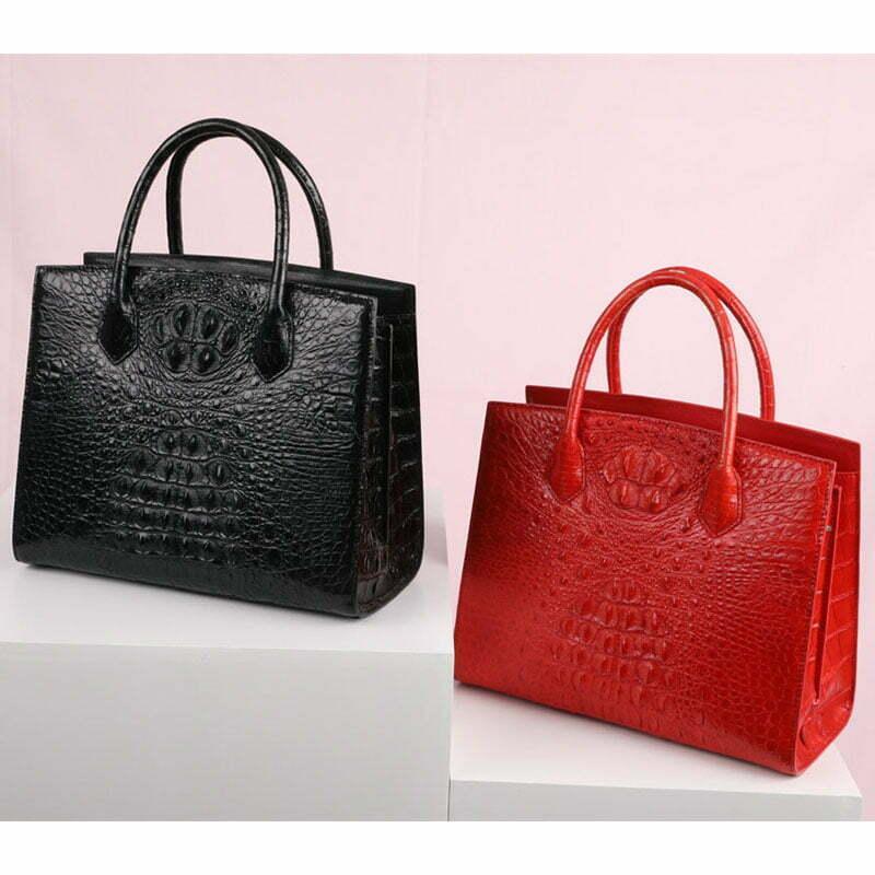Women Genuine Crocodile Handbag Ladies Shoulder Bag
