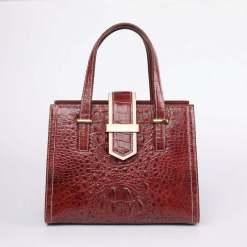 Women Real Crocodile Handle Bag Alligator Shoulder Bag