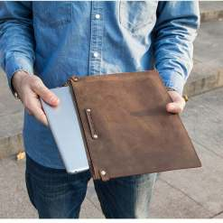Genuine Cowhide Leather iPad Pro Case For 12.9