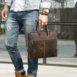 Vintage Genuine Leather Bag for Macbook Pro 16 inch