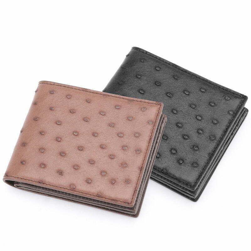 Genuine Ostrich Billfold Wallet for Men
