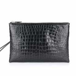 Men's Genuine Crocodile Skin Leather Pouch Clutch Bag