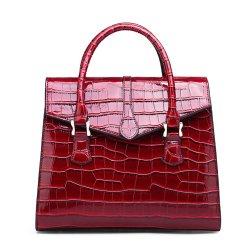 Vintage Crocodile Pattern Luxury Handbag Croco Leather Shoulder Bag Red
