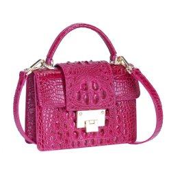 Genuine Crocodile Skin Leather Women's Handbag Alligator Satchel Bag