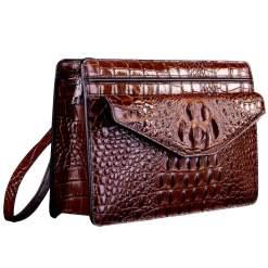 Genuine Crocodile Skin Men's Clutch Bag Alligator Pouch