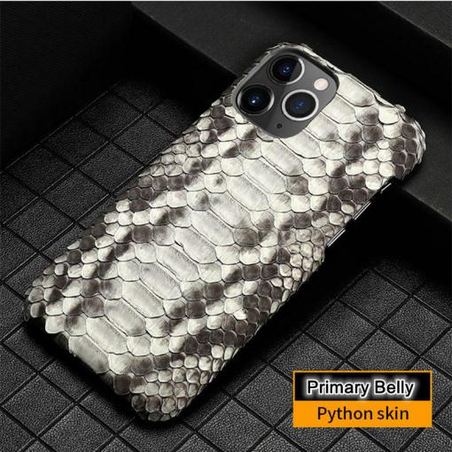 Genuine Python Leather iPhone 12 Pro Max Case Real Snakeskin Phone Cover