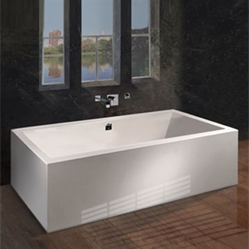 MTI Andrea 18A Freestanding Sculpted Tub 72 x 4825 x 24  Free Shipping