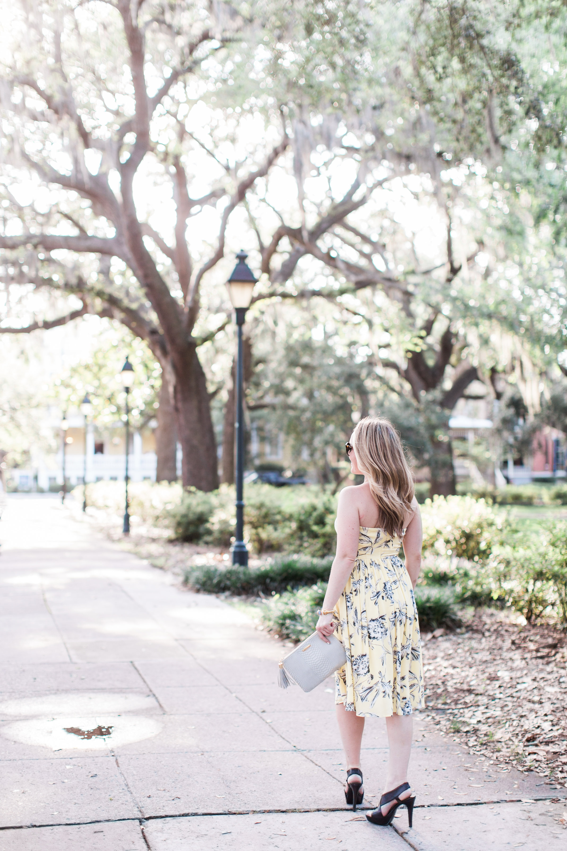 Black & Yellow Floral Dress by fashion blogger Kristen of Every Chic Way