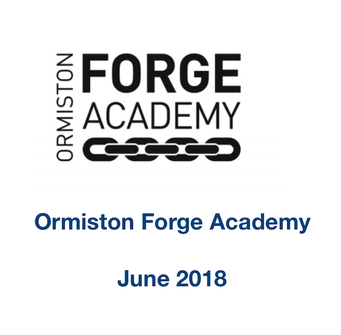Ormiston Forge Academy Letter of Recommendation