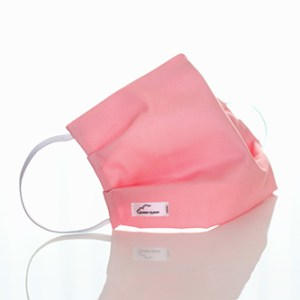 A pink Every Cloud Antimicrobial Reusable face mask