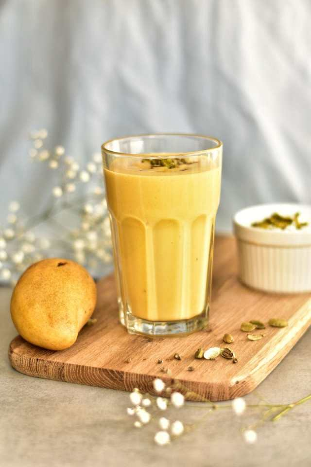 Mango Lassi Recipe - Indian yogurt drink with mango