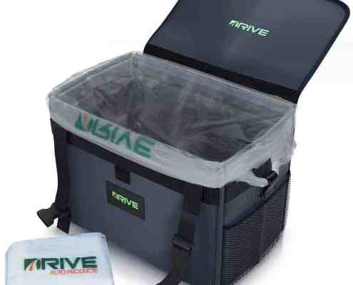 This car trash can is the perfect size with all the features we need at a super affordable price