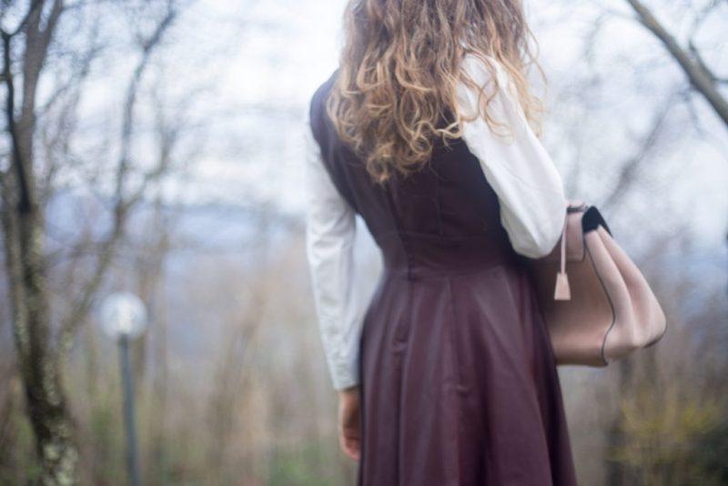 leather midi dress-6