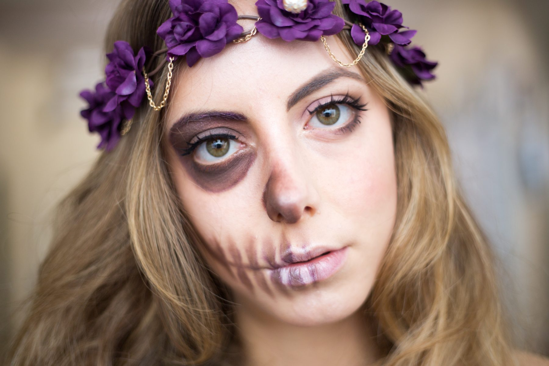 half-skull-makeup-tutorial