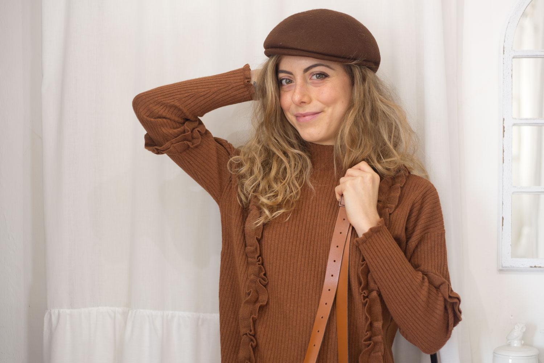 maglione color cognac