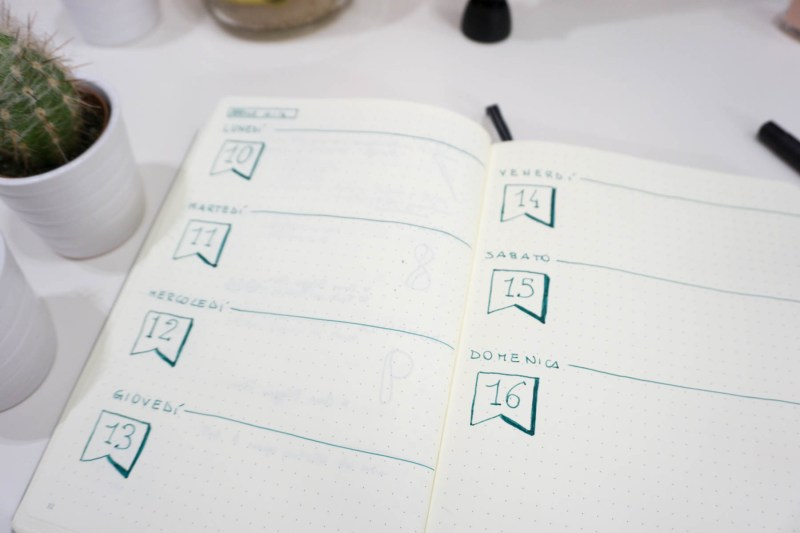 bullet journal aprile set up