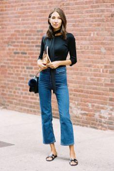 come indossare jeans a zampa