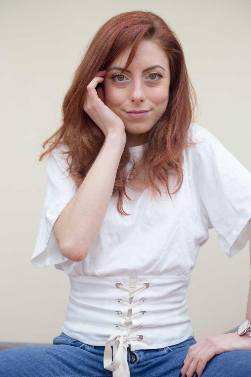 tshirt con corsetto