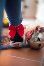 calzino rosso con fiocco calzedonia