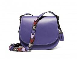 Ultra violet Coach saddle bag