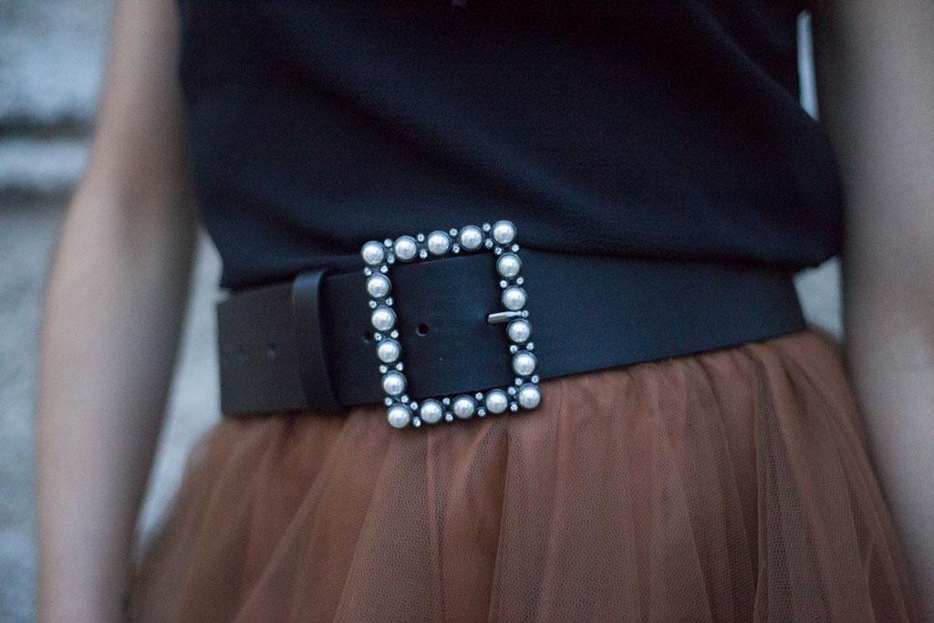 cintura con perle