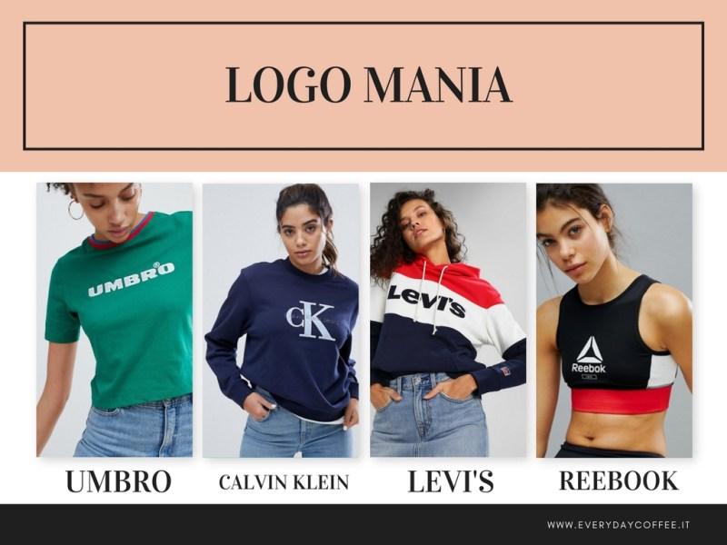 tendenza moda primavera estate 2018 logo mania